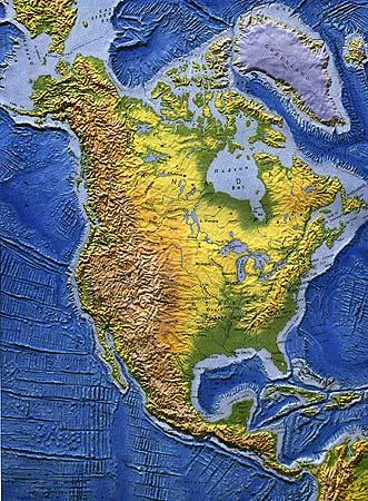 nyugat amerika térkép Észak Amerika természetföldrajza nyugat amerika térkép
